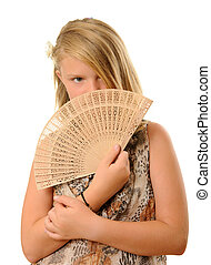 Girl with fan