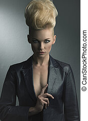 girl with fashion hair-style