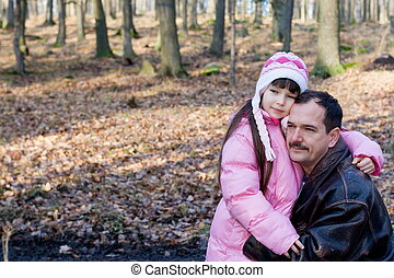 girl with father
