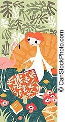 Girl flamingo Illustrations and Stock Art. 298 Girl ...