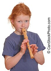 Girl with flute