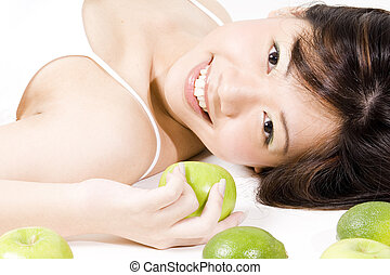 Girl With Fruit 2