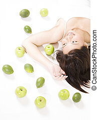 Girl With Fruits 7