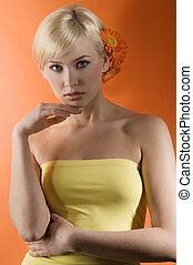 girl with gerbera