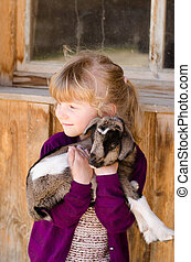 girl with goat