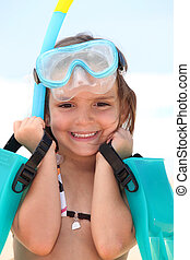 Girl with goggles