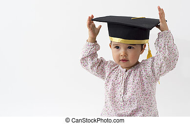 girl with graduation hat