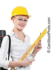 Girl with hard hat