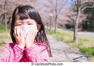 girl with hay fever