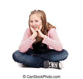 Girl with her legs crossed