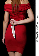 Girl With Knife - The girl who is holding knife in his hand...