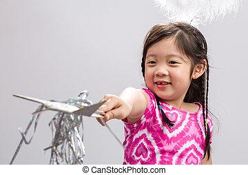Girl with Magic Wand