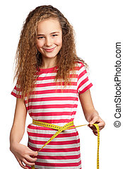 Girl with measure