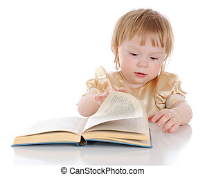 Girl with open book