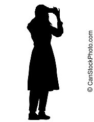 Girl with phone four