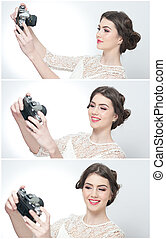 Girl with photo camera