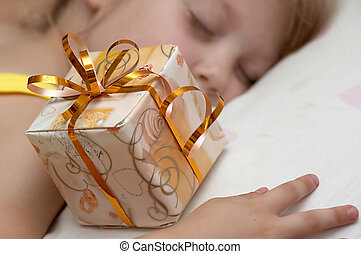 Girl with present