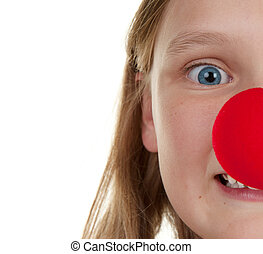 girl with red nose