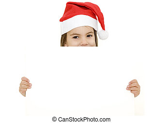 girl with santa clothes - little girl with santa clothes...