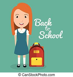 girl with school bag