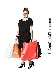 Girl with shoppingbags