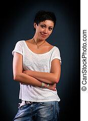 girl with short hair