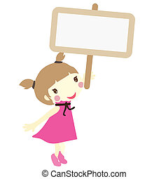 girl with signboard