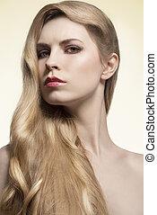 girl with silky long hair