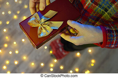 Girl with small gift