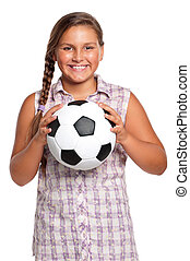 Girl with soccer ball