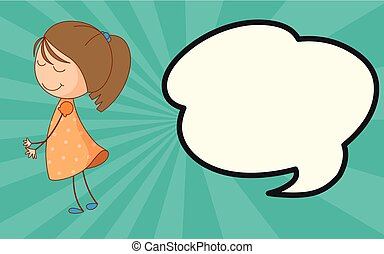 Girl with speech bubble