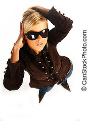 girl with sunglasess