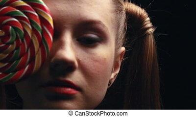 girl with sweet