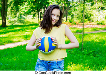 girl with the ball