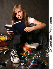 Girl with the book