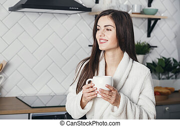 Girl with the Cup of Coffee