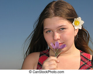 Girl with the flower