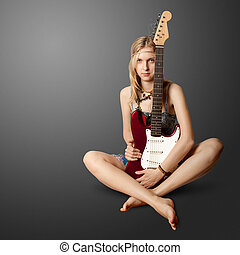 girl with the guitar