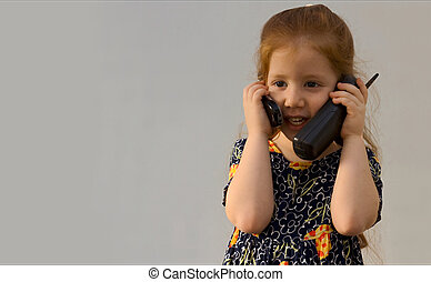 Girl with two phones
