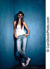 girl with Venetian mask
