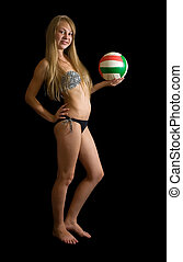 girl  with volleyball