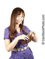 girl with  wallet