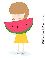Girl With Watermelon.
