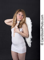 girl with white wings