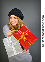 girl with with gifts
