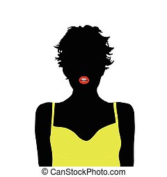 girl with yellow shirt vector