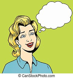 Girl without thoughts comic book style vector