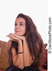 girl wondering