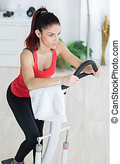 girl working on the stepper