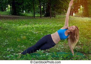 girl, yoga